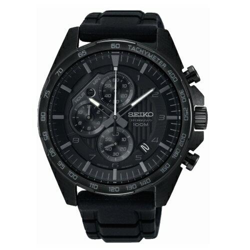 SEIKOCS急速時光三眼計時腕錶8T67-00H0SDSSB327P1