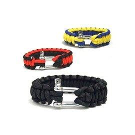野外求生專業登山高品質U型鋼扣手鏈繩 純手工編織-7601001