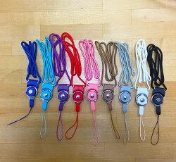 【灰色】色彩繽紛 閃亮登場 手機、胸卡吊繩 多功能尼龍掛繩 可分離式扣環