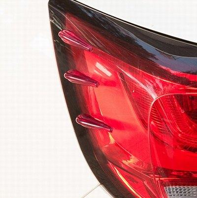 【車用降低風阻擾流條-軟質-長6cm-6片 套-2套 組】防撞裝飾條前後燈改裝導流板(可混套)-527008