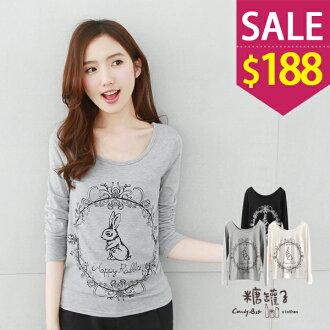 ★原價299下殺188★糖罐子魔鏡兔子上衣→現貨+預購【E39981】