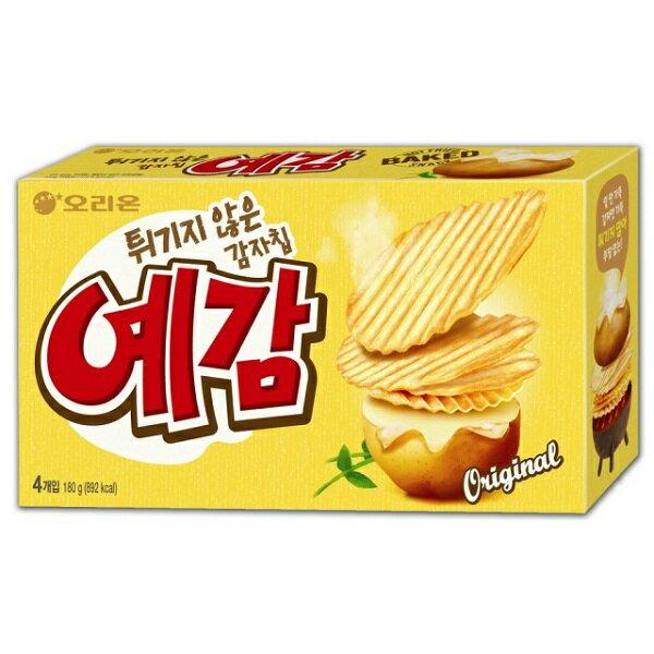 韓國餅乾 好麗友Orion 預感烘焙洋芋片4入裝 ^(大盒^) 原味