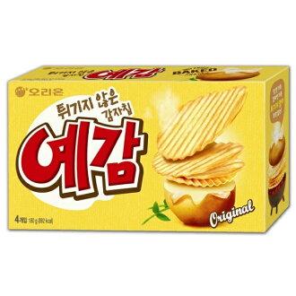 韓國餅乾 好麗友Orion 預感烘焙洋芋片4入裝 (大盒) 原味