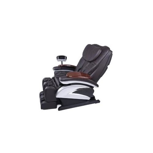Electric Full Body Shiatsu Massage Chair Recliner Stretched Foot Rest 06C Brown 0
