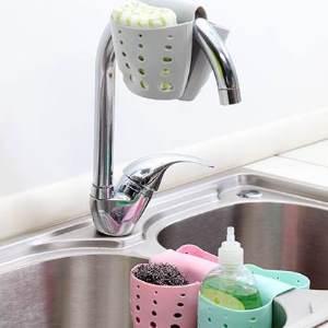 美麗大街【BF564E8E858】創意設計廚房清潔馬鞍式水槽鏤空瀝水籃
