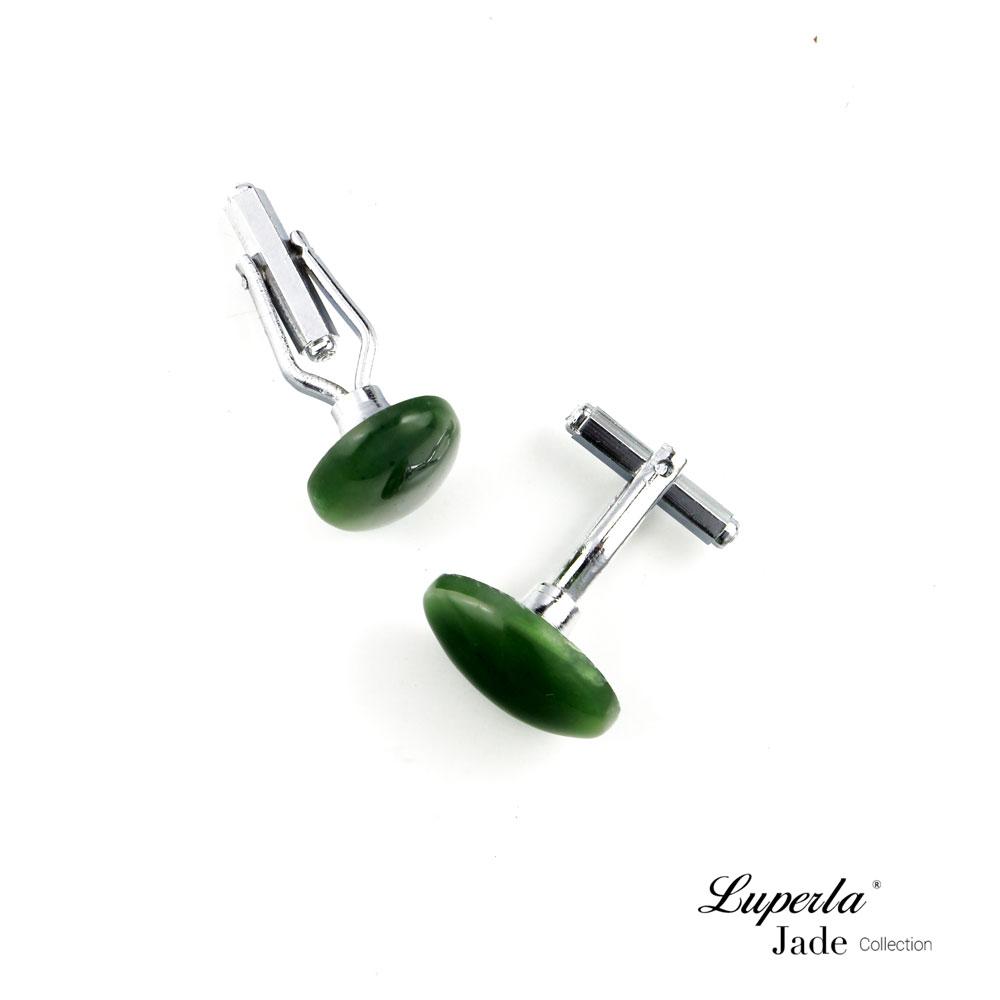 大東山珠寶 極簡綠 仕紳系列 天然碧玉  西裝領徽 袖扣 4