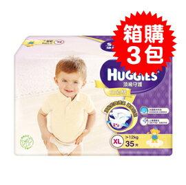 【悅兒樂婦幼用品?】HUGGIES 金好奇 白金頂級守護紙尿褲(XL) 35片x箱購3包