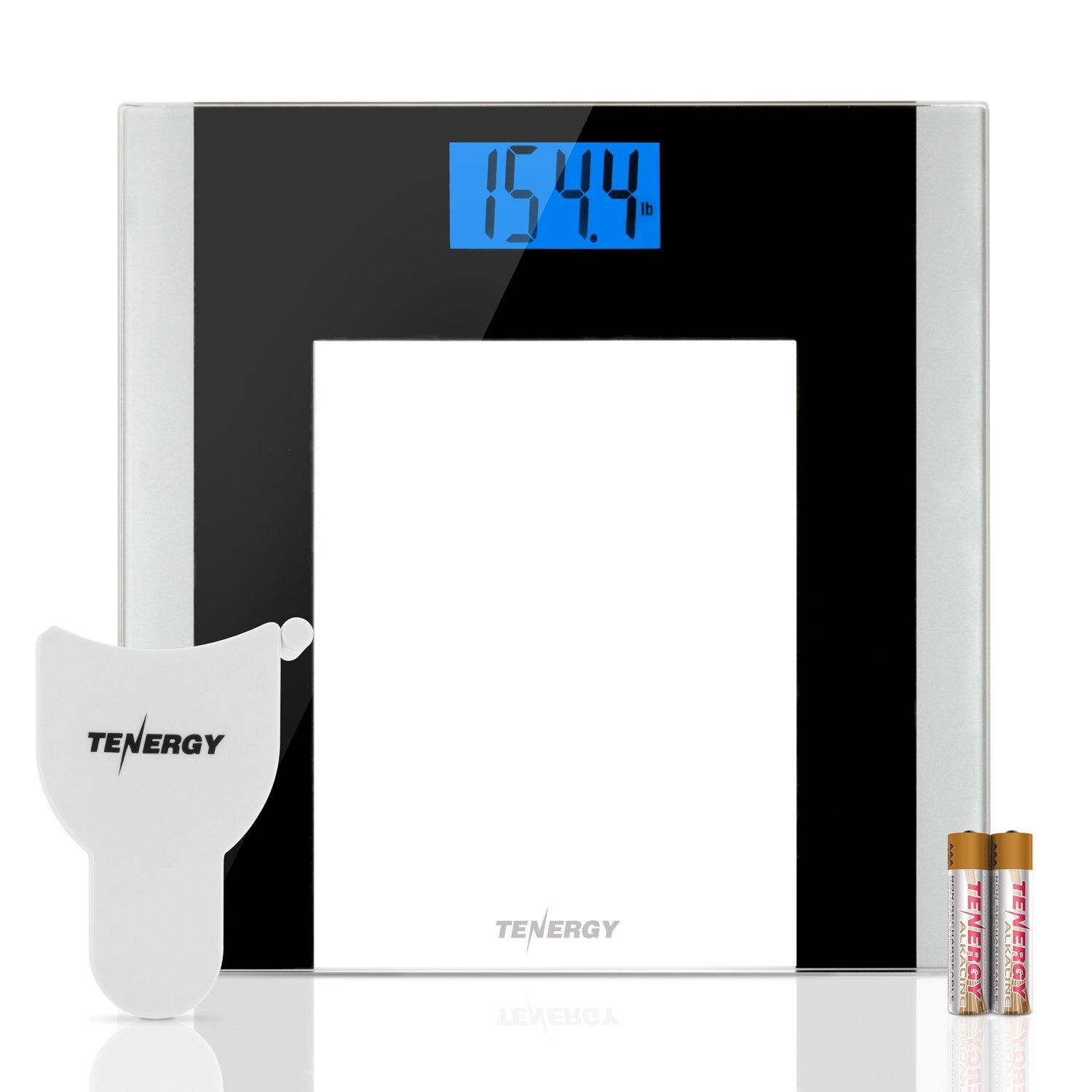 400 Pounds Digital Body Weight Bathroom Scale With Tape Measure Tempered Glass
