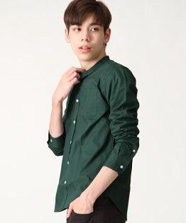 府綢襯衫深綠
