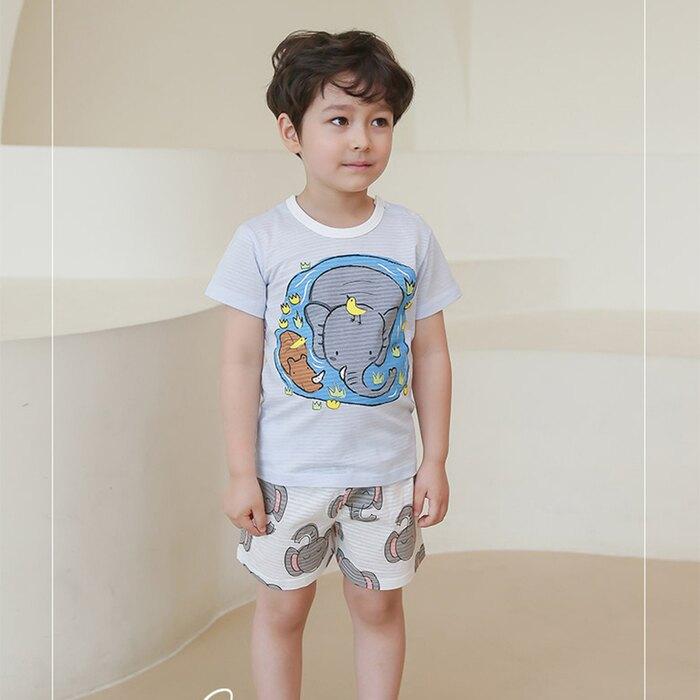 (預購)正韓國純棉 PUCO兒童居家服春夏款(三分袖)90-140cm 芒果姐姐童裝屋