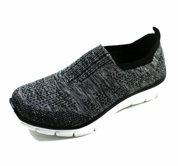 SKECHERS (女) 運動系列 EMPIRE ROUND UP 編織鞋面 - 12420BKSL 黑灰[陽光樂活]