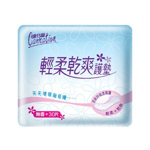 康乃馨 輕柔乾爽 護墊 無香 15cm (30片)