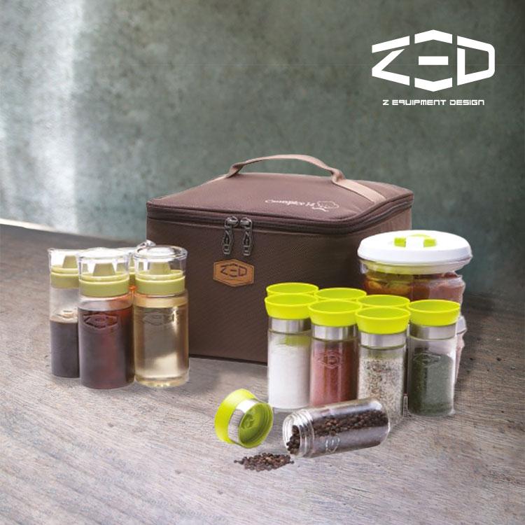 ZED 調味罐收納盒組 ZBACC0102 / 城市綠洲 (調味料、儲存收納、燒烤香料佐料)