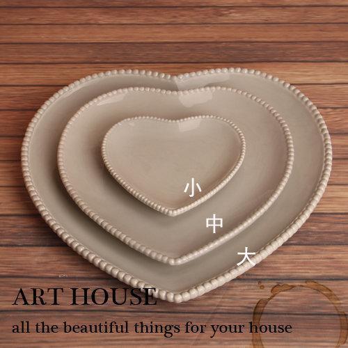 歐式浮雕愛心型陶瓷果盤 婚禮時尚水果盤 點心盤 糖果盤 下午茶盤3個組