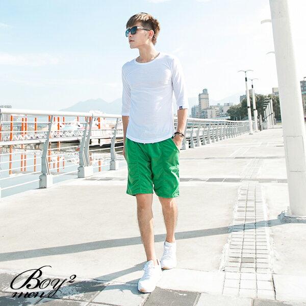 ☆BOY-2☆【NR05095】型男百搭休閒素面修身簡約七分袖潮T 4