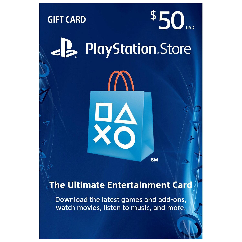 Sony Playstation PSN $50 Dollar Prepaid Gift Card for Playstation Network 0