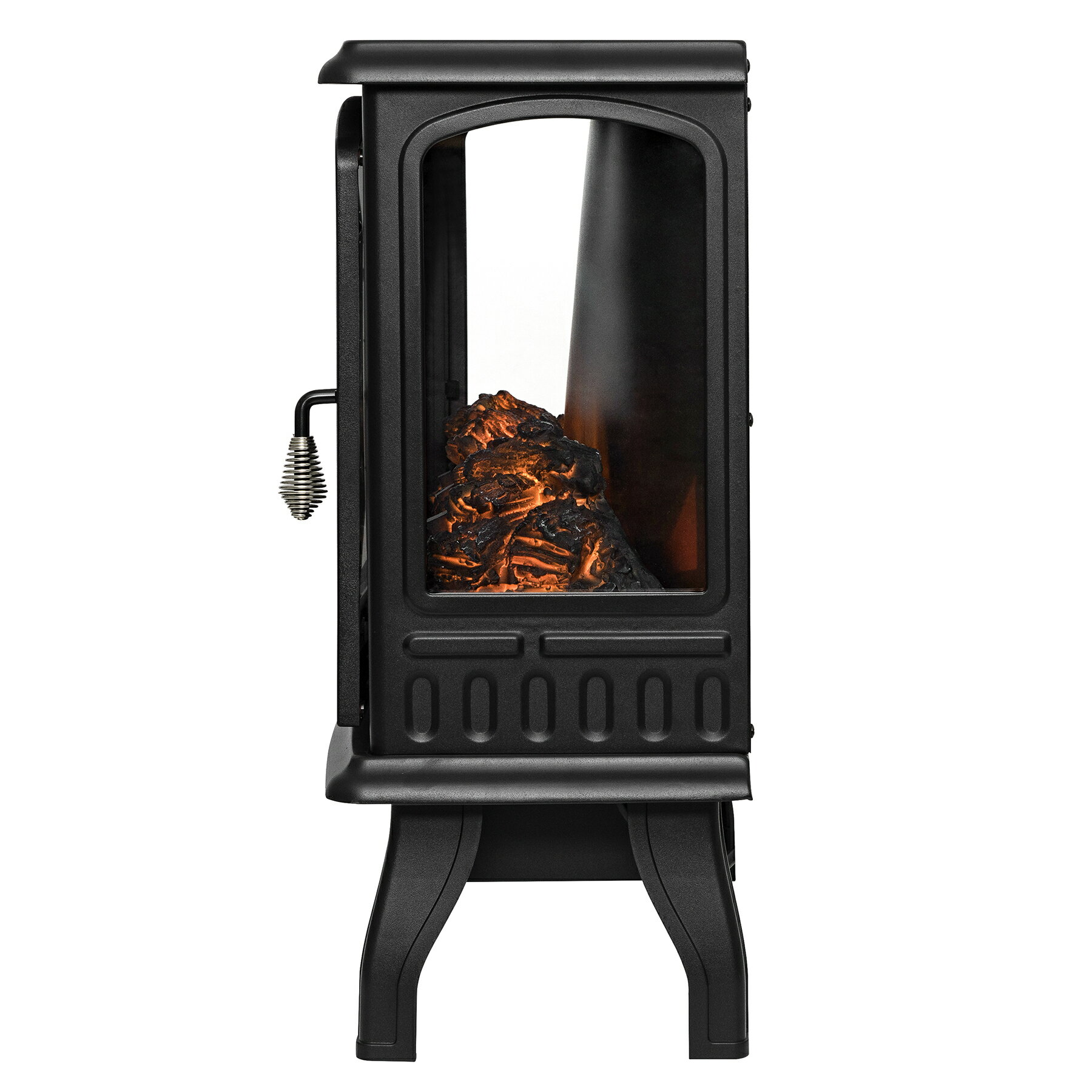 "AKDY 20"" Black Finish Freestanding Electric Fireplace Heater Stove 5"