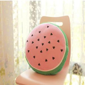 美麗大街【HB31E2291】仿真西瓜冰棒單雙面印花抱枕午睡枕頭座椅靠墊-圓形西瓜款(圓直徑55cm)