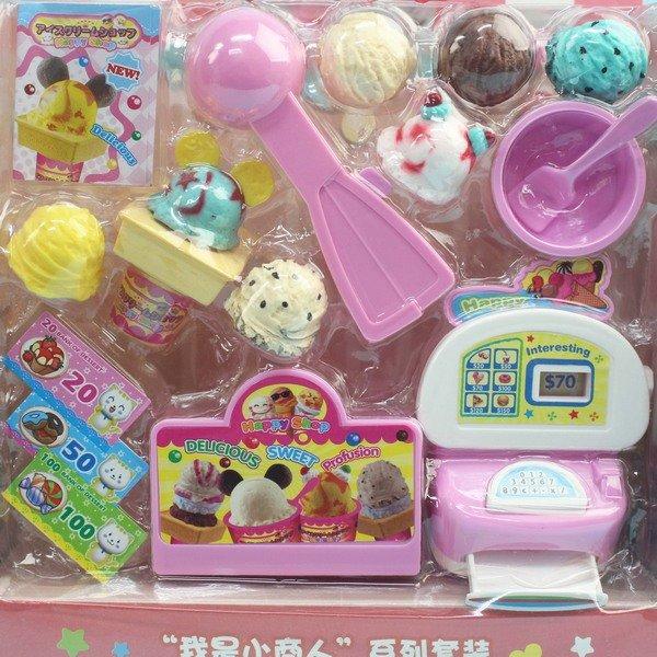 布小信 冰淇淋店 收銀機 KB001-7 / 一卡入(促180) 扮家家酒 DIY過家家玩具-首 1