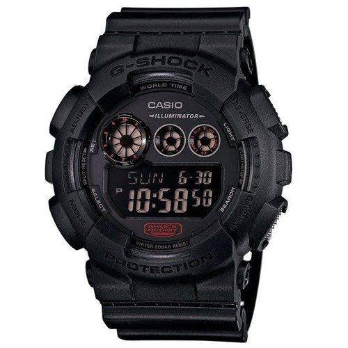 Casio Men's 55mm Chronograph Black Resin Resin Case Quartz Watch GD120MB-1CR