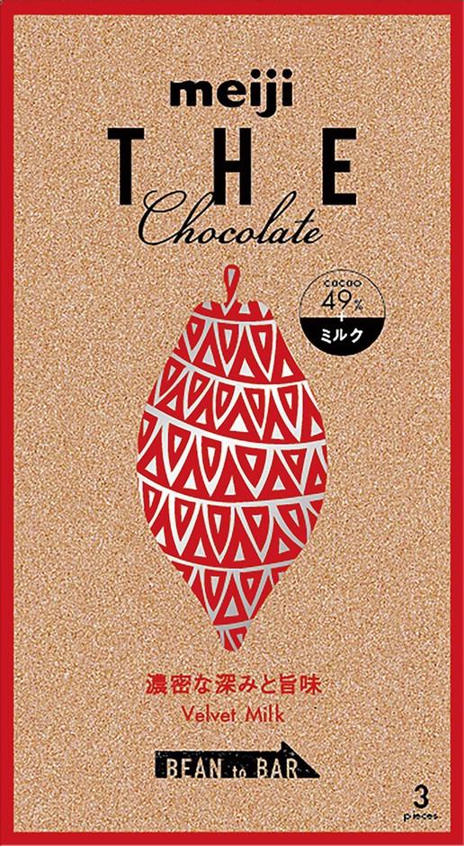 MEIJI 明治THE CHOCOLATE濃郁牛奶巧克力 49%可可 50g  3枚入
