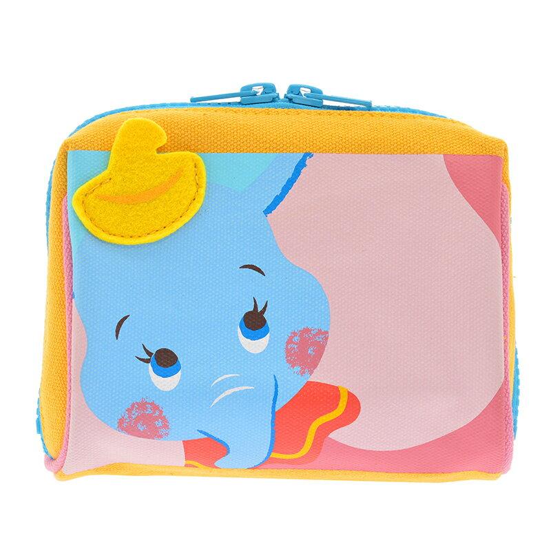 【真愛日本】15090800051限定寬口化妝包-朋友小飛象 迪士尼專賣店限定 化妝包 收納包 手拿包