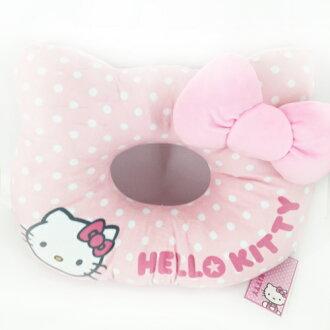 【真愛日本】15092100002頭型坐墊-點點粉 三麗鷗 Hello Kitty 凱蒂貓 坐墊 靠墊 墊子 正品