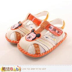 寶寶鞋迪士尼米奇正版寶寶外出鞋 魔法Baby~sk0047