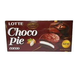 LOTTE 黑巧克力派168g【愛買】