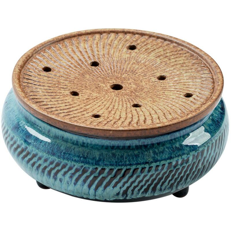 茶杯建水陶瓷水孟仿古三足茶洗茶渣桶粗陶窯變干泡臺養茶壺壺承