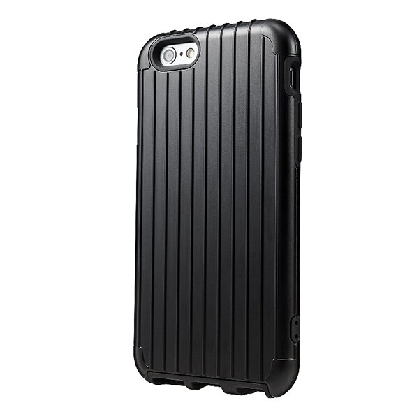 《ibeauty愛美麗》iPhone 5/5S/5C 5SE手機殼 GRAMAS 可放悠游卡 手機保護外殼 行李箱手機殼 RIMOWA行李箱激似款 經典黑