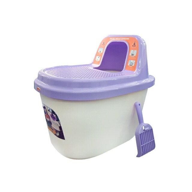 Dr. Lee  蹲式型馬桶貓砂盆(不沾砂)(57*40*53) 紫色 DL-604 (H002C22) 1