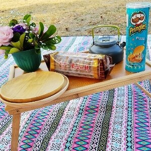 美麗大街【107051602】多功能摺疊茶几露營小木桌 (不含收納袋)