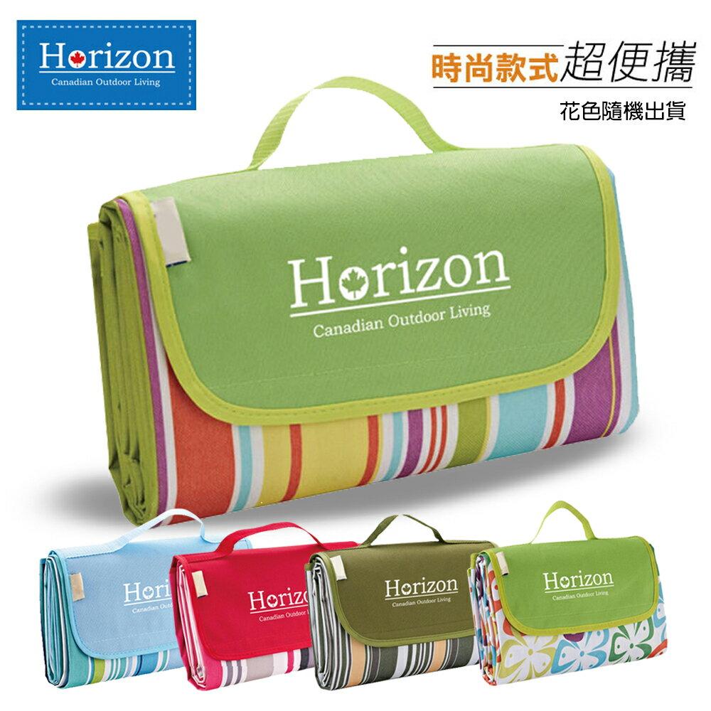 【野餐露營超值組】樂活超值野餐墊(顏色隨機)+便當盒+保溫瓶+野餐袋 1