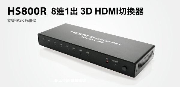 登昌恆HS800R8進1出3DHDMI切換器【迪特軍】