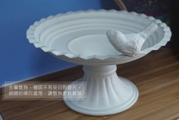 NO19 Garden:黃鐵精緻噴白花盤