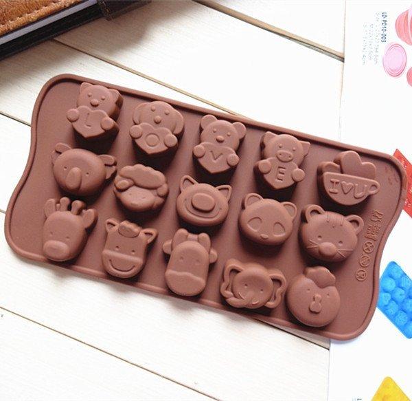 =優生活=食用級矽膠蛋糕模具 長頸鹿大象小雞貓咪熊貓豬狗羊動物LOVE造型冰格 巧克力冰格 製冰格 製冰盒 果動模具 蛋糕模具