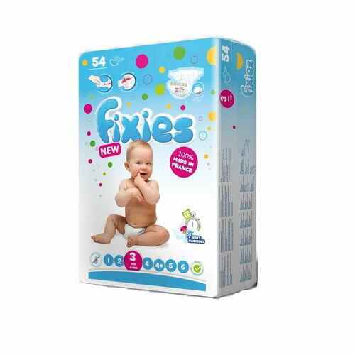 Fixies 寶貝愛因斯坦 長效型嬰兒尿布(紙尿褲)3號(M)4~9kg(54片x3包)箱購★衛立兒生活館★ - 限時優惠好康折扣