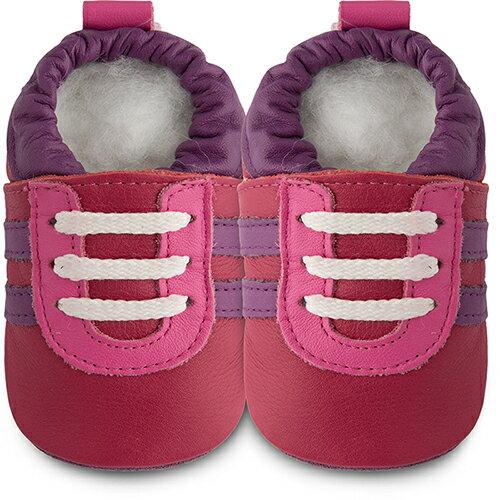 【hella 媽咪寶貝英國 shooshoos 健康無毒真皮手工鞋/學步鞋/嬰兒鞋 紅寶石 102779 (公司貨)