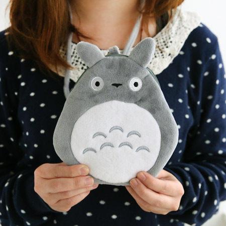 龍貓扁型證件票卡包(附可拆式掛繩) 手機包 卡包 零錢包 豆豆龍 Totoro 宮崎駿【N200284】