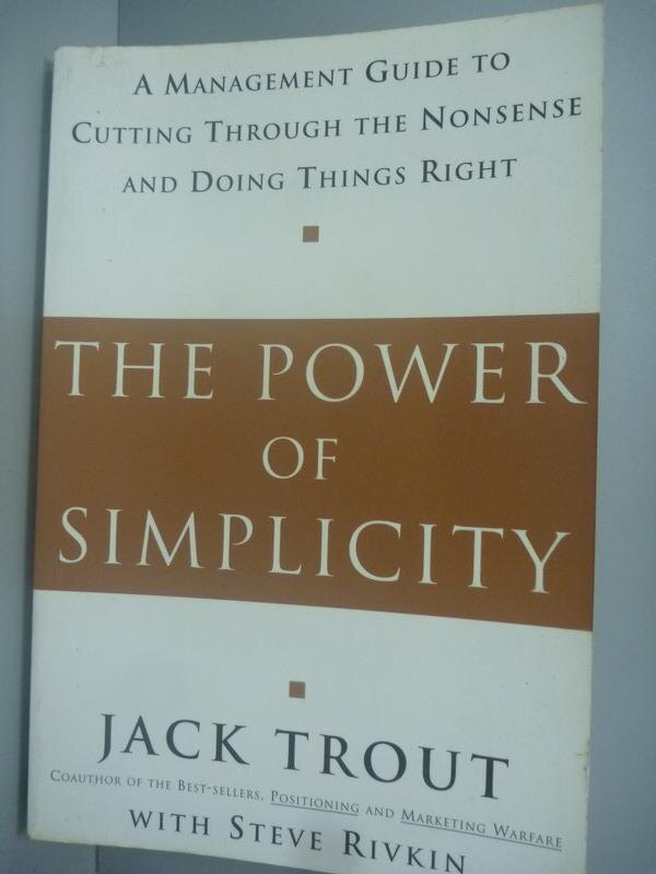~書寶 書T7/財經企管_XGZ~The Power of Simplicity