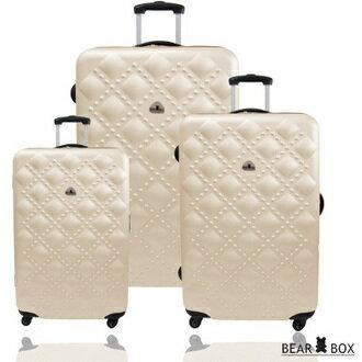 ✈Bear Box 時尚香奈兒系列ABS霧面輕硬殼三件組旅行箱 / 行李箱 3