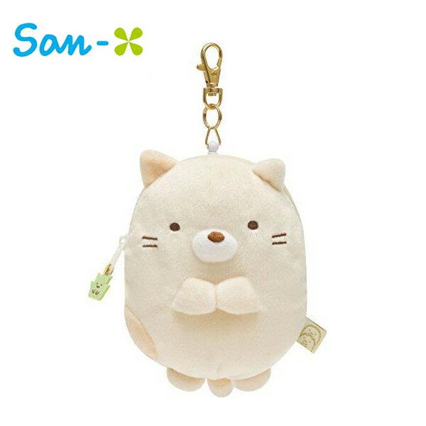 小貓款【日本正版】角落生物 彈力 票夾零錢包 票夾包 零錢包 角落小夥伴 San-X - 667487