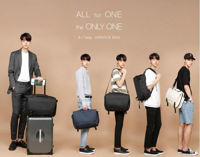 韓國4用包 後背 肩背 飛機包 託運包 功能筆電包 022-9729 3