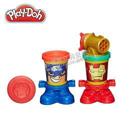 Play-Doh 培樂多 漫威英雄黏土罐遊戲組-美國隊長與鋼鐵人★衛立兒生活館★