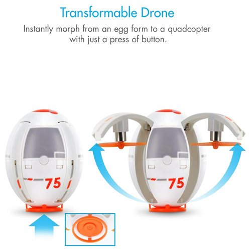 TDR Eggsplorer Flying Egg 2.4G RC Quadcopter Stunt Drone with Auto Hovering Altitude Holding e8d5196275183d5229d8aac482bea3a2