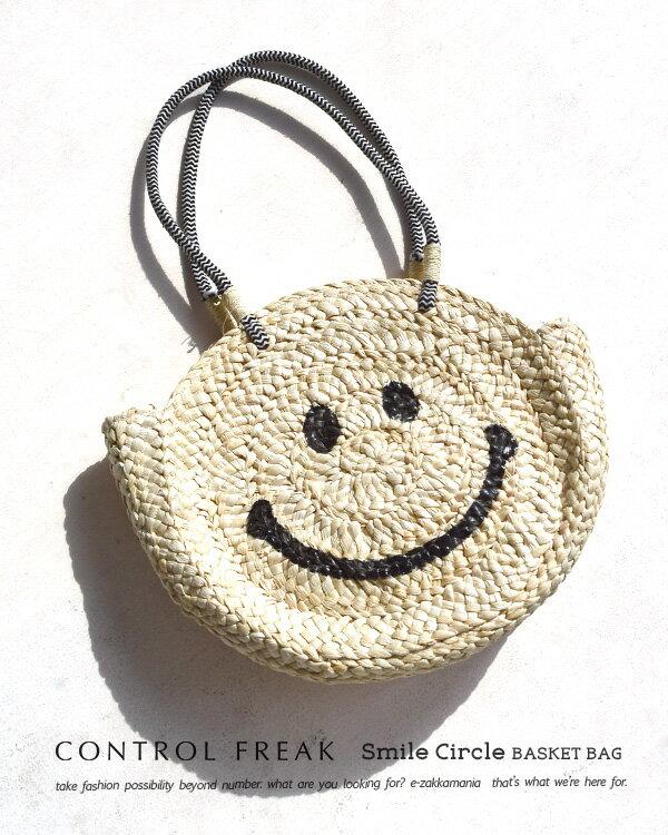 日本e-zakka / 圓型微笑編織手提包 / 21591-1801074 / 日本必買 代購 / 日本樂天直送(5900) 6