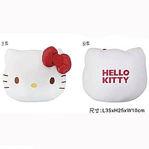 【真愛日本】15082100034KT經典頭型抱枕紅結白 三麗鷗 Hello Kitty 凱蒂貓  抱枕 靠枕 汽車用品