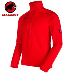 Mammut 長毛象 刷毛半門襟/保暖中層Polartec Power Stretch 刷毛衣 Aconcagua ML男款 1014-01261 3445辛辣紅
