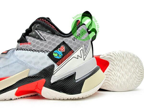 2020 雷霆隊 Russell Westbrook 個人簽名鞋款 NIKE AIR JORDAN WHY NOT ZER0.3 GS 大童鞋 女鞋 灰白黑 忍者龜 西河 MVP 大三元製造機 MVP 愛地球 UNITE (CD5804-101) 0120 3